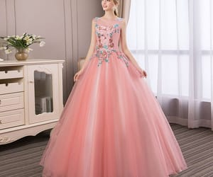 ball gown, scoop neck, and floor-length long image