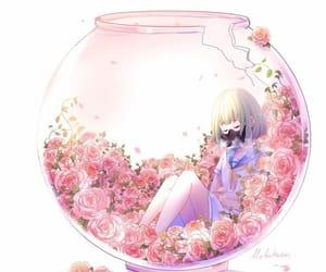 beautiful, rose, and anime image