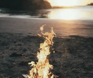 background, fire, and nature image