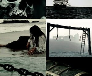 ocean, pirate ship, and pirates image