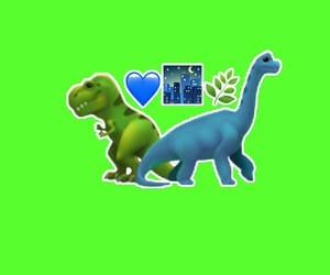blue, dinosaur, and green image