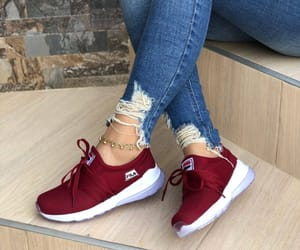 burgundy, shoes, and sneakers image