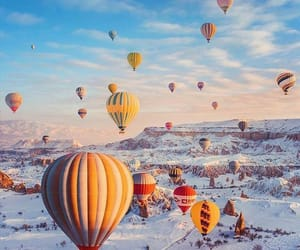 hot air balloon, summer, and wanderlust image