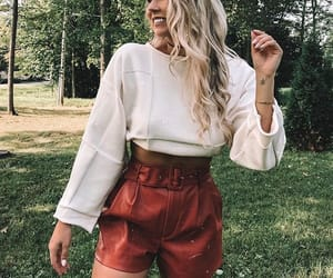 fall, fashion, and leather image