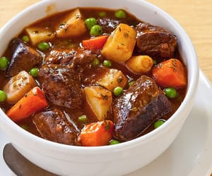 beef, food, and carrot image