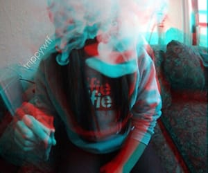 3d, psychedelic, and smoke image