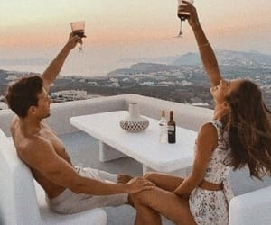 couple, summer life, and lové image