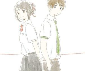 anime, kimi no na wa, and kawaii image