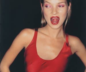 kate moss, red, and model image