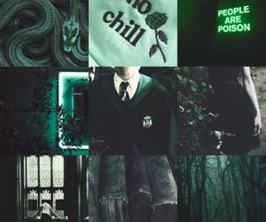 aesthetic, dark, and green image