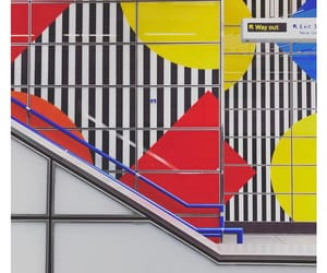 art, stripes, and mural image