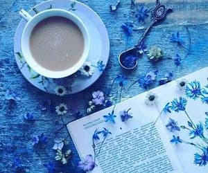 blue, ☕, and 💙 image