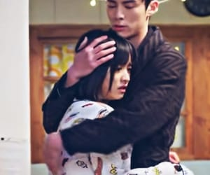 couple, hug, and meteor garden image