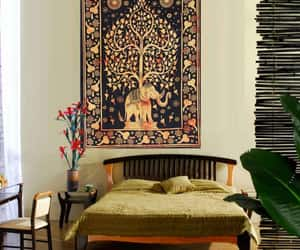 mandala tapestry, home decor, and tapestry image