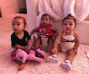 kim kardashian, baby, and khloe kardashian image