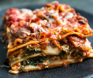 food, pasta, and lasagne image