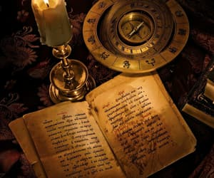 book, magic, and candle image