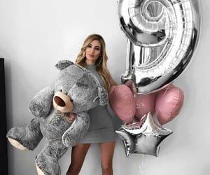 birthday, girl, and balloons image
