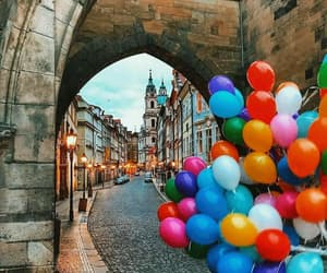 balloons, travel, and cities image