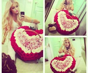 flowers, roses, and selfie image
