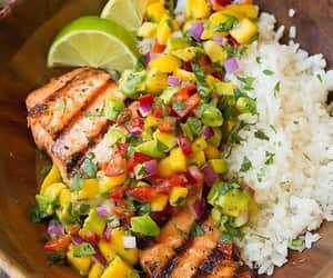 delicious, dinner, and fitness image