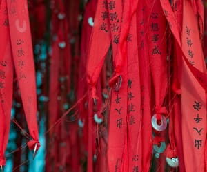 chinese, red, and tree image