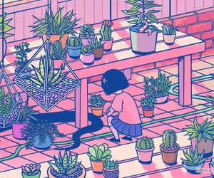 aesthetic, snake, and succulents image