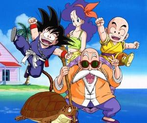 anime, krillin, and turtle image