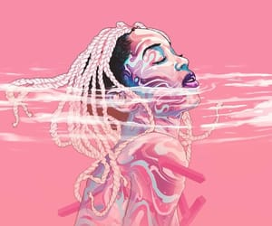 digital art, illustration, and pink aesthetic image