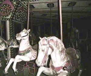grunge, carousel, and horse image