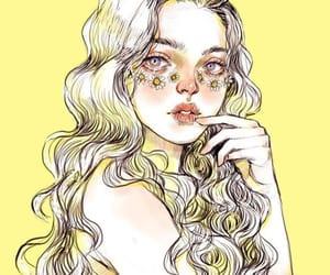 illustration, yellow, and art image