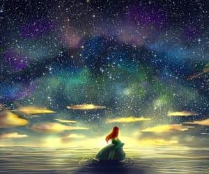 ariel, cartoon, and the little mermaid image