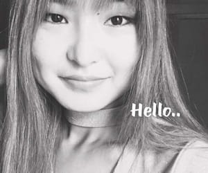 girl, new hair style, and hello image