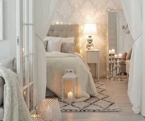 bed, decoration, and candles image