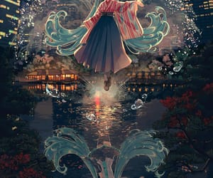 anime, art, and buildings image