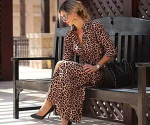 leopard skirt, leopard dress, and leopard cardigan image