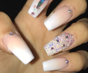 acrylics, chic, and crystals image