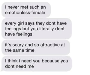 attractive, messages, and emotionless image