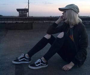 girl, grunge, and vans image