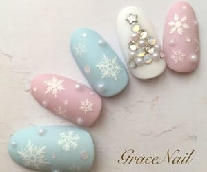 christmas, nail, and manicure image