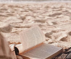 book, beach, and reading image