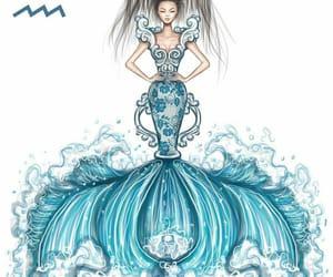 aquarius, zodiac, and art image