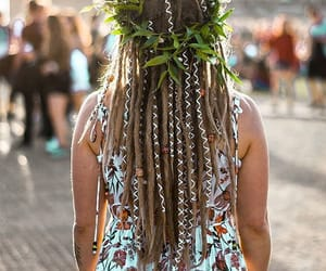 dreadlocks, dreads, and flower crown image