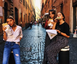 eat, fashion, and girls image