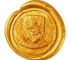 hogwarts, seal, and hufflepuff image