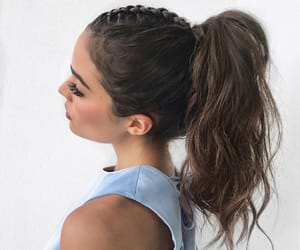 beauty, girl, and pony tail image