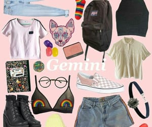 90's, gemini, and style image