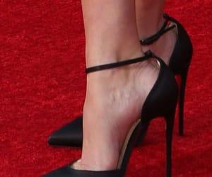 black, red carpet, and stilettos image