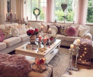home decor, living room, and white image