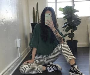 outfit, green, and style image